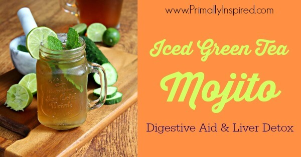 Iced Green Tea Mojito by Primally Inspired