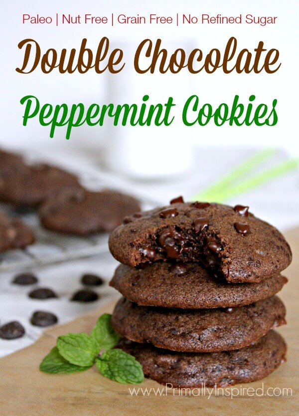Double Chocolate Peppermint Cookies from Primally Inspired (Paleo, Nut ...